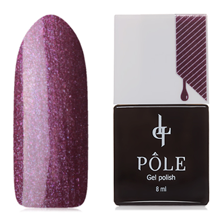 Купить POLE, Гель-лак №201, Фиолетовая загадка, Фиолетовый