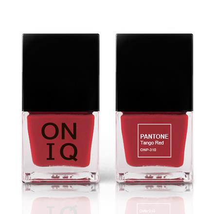 Купить ONIQ, Лак для ногтей Pantone, Tango Red, Красный