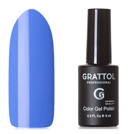 Grattol, Гель-лак Classic Collection №088, Azure grattol топ rubber top gel 9 мл
