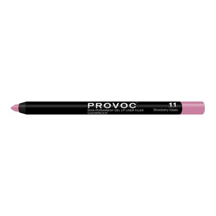 Provoc, Гелевая подводка-карандаш для губ №11, Strawberry Kisses, цвет светлая фуксияКарандаши для губ<br>Cтойкая подводка-карандаш для губ.<br>