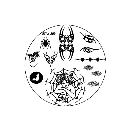 El Corazon, диск для стемпинга № EC-s 509Диски для стемпинга<br>Изображения, с помощью которых вы сможете создать великолепные рисунки на ногтях, которые очень сложно создать вручную.<br>