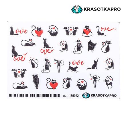 Купить KrasotkaPro, 3D-стикер для ногтей «Животные. Кошки»
