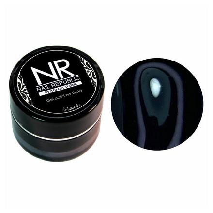 Купить Nail Republic, Гель-краска без липкого слоя, черная, Черный