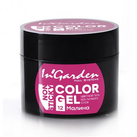 Купить In'Garden, Гель-краска для ногтей №12, Малина, Розовый