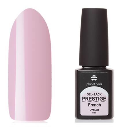 Planet Nails, Гель-лак Prestige French №333Planet Nails<br>Гель-лак (8 мл) бледный сиренево-розовый, без перламутра и блесток, полупрозрачный.