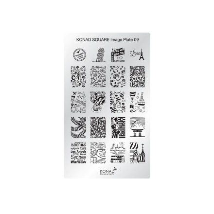все цены на Konad, Пластина для стемпинга Square Image Plate № 09 онлайн