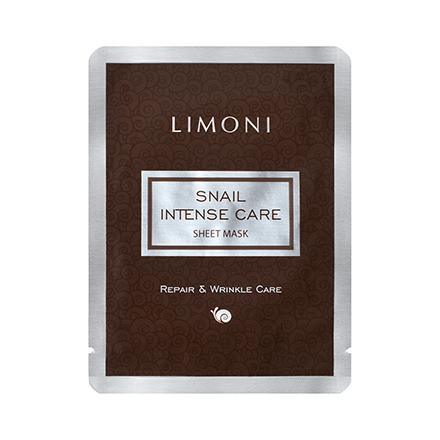 LIMONI, Маска Snail Intense Care, 18 гМаски<br>Тканевая маска с экстрактом секреции улитки для полноценного ухода за кожей лица.