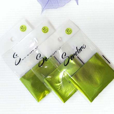 Купить Serebro, Фольга для дизайна ногтей №17, салатовая, матовая