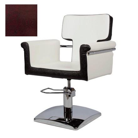 Купить Мэдисон, Кресло парикмахерское «МД-77» гидравлическое, хромированное, бордово-черное