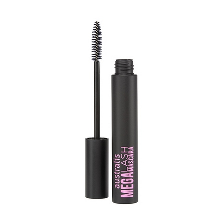 Australis, Тушь для ресниц Mega lash, Waterproof black, 3 мл