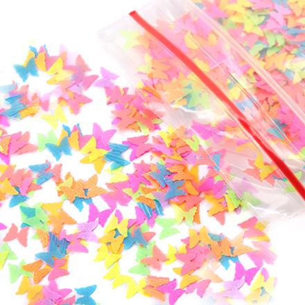 KrasotkaPro, Камифубуки бабочка микс №2  (неон)Камифубуки<br>Камифубуки для дизайна ногтей.<br>