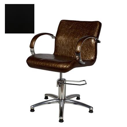 Купить Мэдисон, Кресло парикмахерское «Лорд» гидравлическое, хромированное, черное