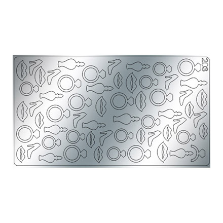 Купить Freedecor, Металлизированные наклейки №203, серебро