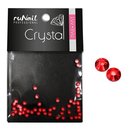 ruNail, Стразы для ногтей, красные, 1,5 мм
