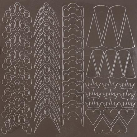 KrasotkaPro, Металлизированные наклейки M1s, сереброНаклейки для дизайна<br>Наклейки для необычного дизайнерского маникюра.<br>