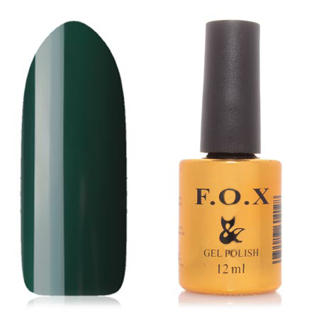FOX, Гель-лак Gradient №008F.O.X<br>Гель-лак (12 мл) темно-зеленый, без перламутра и блесток, полупрозрачный.<br><br>Цвет: Зеленый<br>Объем мл: 12.00