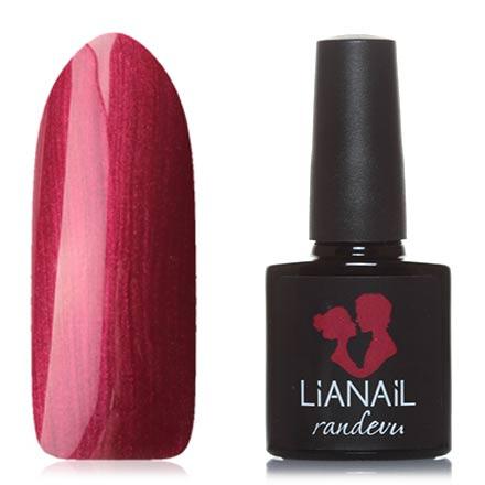 Lianail, Гель-лак Randevu, Атласное платьеLianail<br>Гель-лак (10 мл) малиново-красный, с перламутром, плотный.<br><br>Цвет: Красный<br>Объем мл: 10.00