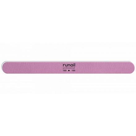 Купить RuNail, Пилка для искусственных ногтей, розовая, закругленная, 180/180