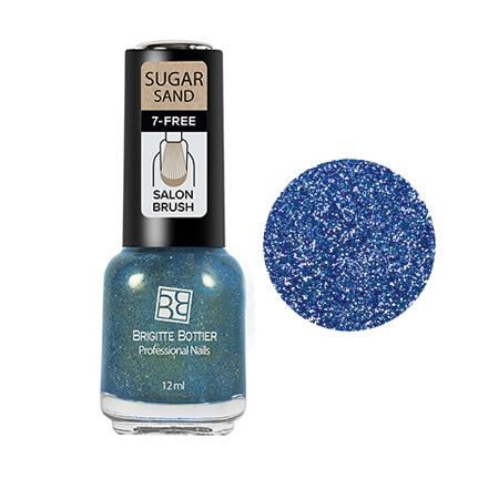 Brigitte Bottier, Лак для ногтей Sugar Sand №304Brigitte Bottier<br>Лак для ногтей (12 мл). Искрящийся голубой.