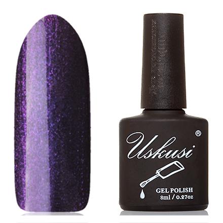 Uskusi, Гель-лак №125Uskusi<br>Гель-лак (8 мл) на черной подложке, с фиолетовыми и пурпурными микроблестками, плотный.<br><br>Цвет: Фиолетовый<br>Объем мл: 8.00