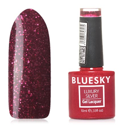 Bluesky, Гель-лак Luxury Silver №573