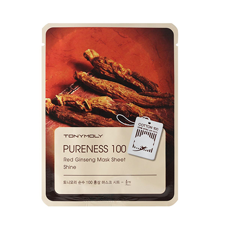 Tony Moly, Маска для лица Pureness 100 Red Ginseng Mask Sheet тканевая маска tony moly pureness 100 shea butter mask sheet объем 21 мл