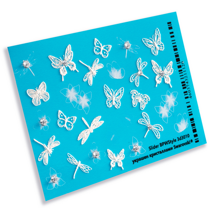 BPW.style, 3D-слайдер с кристаллами «Бабочки», №3d-3010 фото