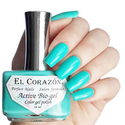 El Corazon Лечебная Серия Цветной Биогель, № 423/279El Corazon <br>Лак насыщенный мятно-зеленый, без блесток и перламутра, плотный. Объем 16 ml.