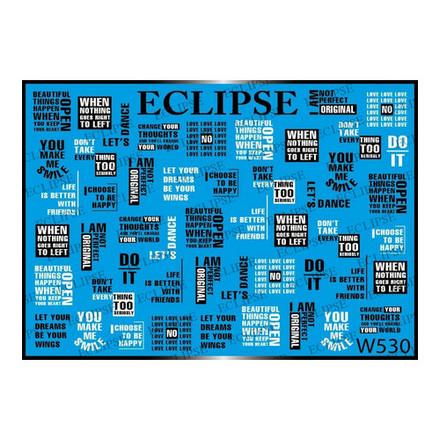 Купить Eclipse, Слайдер-дизайн для ногтей W №530