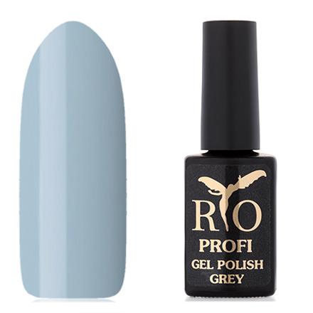 Rio Profi, Гель-лак «Grey» №10, Танцующий ФонтанRio Profi<br>Каучуковый гель-лак (7 мл) светло-серый с голубым отттенком, без перламутра и блесток, плотный.<br><br>Цвет: Черный<br>Объем мл: 7.00