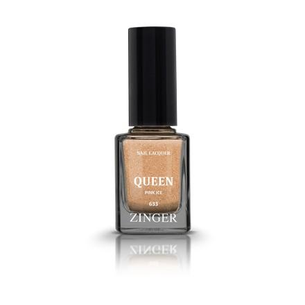 Zinger, Лак для ногтей Queen, цвет Pink ice