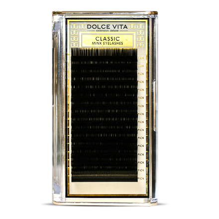 Dolce Vita, Ресницы в ленте Classic Mink Deluxe 0,15/14 B натуральный изгиб