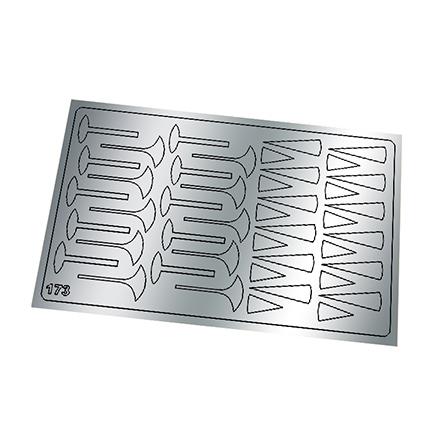 Freedecor, Металлизированные наклейки №173, серебро
