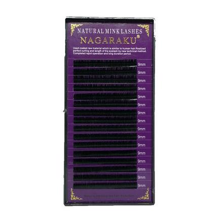 NAGARAKU, Ресницы на ленте Natural Mink, 9/0,12 мм, D-изгибНаращивание ресниц<br>Ресницы для поресничного метода наращивания. В упаковке 16 линий.