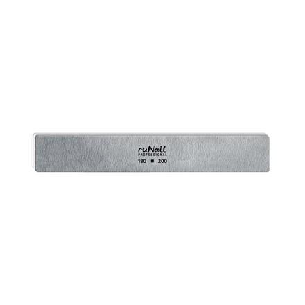Купить RuNail, Пилка для искусственных ногтей серая, прямая, 180/200