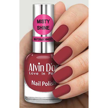 Купить Alvin D`or, Лак Misty shine №532, Alvin D'or, Бордовый