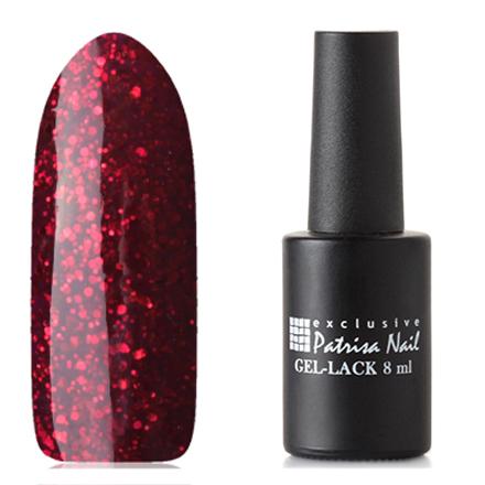 Patrisa Nail, Гель-лак «Две стихии» №R19Patrisa Nail трехфазный шеллак<br>Гель-лак (8 мл) пурпурный, с красными блестками, плотный.<br><br>Цвет: Красный<br>Объем мл: 8.00