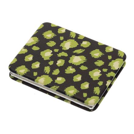 Dewal, Зеркало карманное прямоугольное «Дикая природа», зеленый гепард