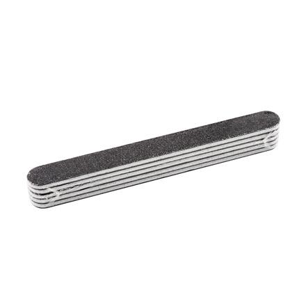 Zinger, Набор прямых пилок для ногтей, черных, 150/220