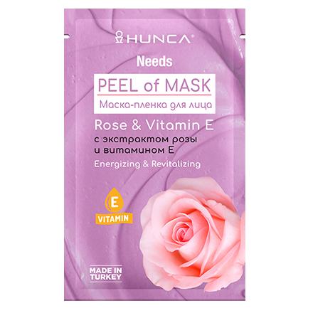 Hunca, Маска-пленка для лица Rose & Vitamin Е, 10 мл