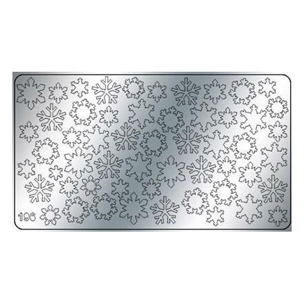 Купить Freedecor, Металлизированные наклейки №196, серебро