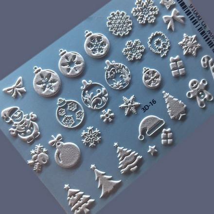 AnnaTkacheva, 3D-слайдер№16, белый «Зима. Новый год», Anna Tkacheva  - Купить