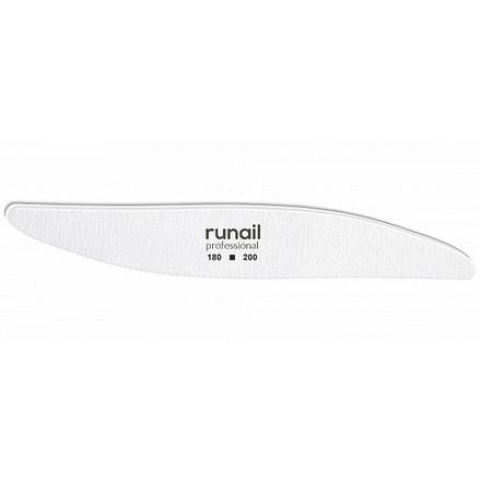 Купить RuNail, Пилка для искусственных ногтей, белая, лепесток, 180/200