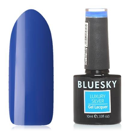 Купить Bluesky, Гель-лак Luxury Silver №320, Синий