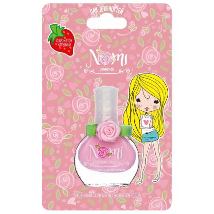 Nomi, Детский лак для ногтей №10, розовый пион, 7 мл, Розовый  - Купить