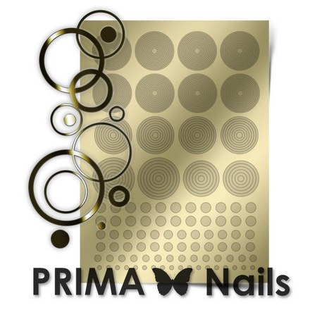 Prima Nails, Металлизированные наклейки GM-02, золото