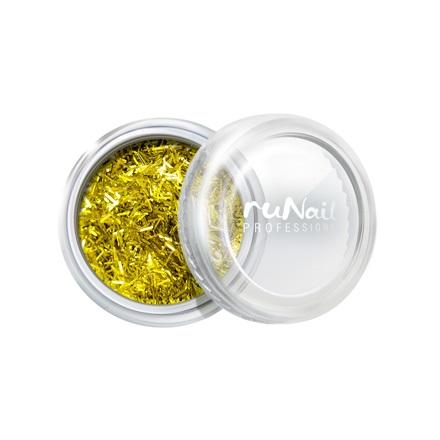 ruNail, дизайн для ногтей: стружка (золотой) runail дизайн для ногтей ракушки 0285