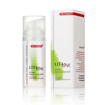 LitaLine, Крем для лица «Питательный» для жирной и чувствительной кожи, 200 млКремы для лица<br>Мягкое средство для ежедневного ухода за кожей лица.