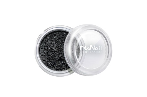 ruNail, дизайн для ногтей: пыль 2007 (черный, матовый) runail дизайн для ногтей сухоцветы 0468 желтый