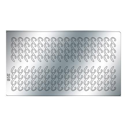 Купить Freedecor, Металлизированные наклейки №215, серебро